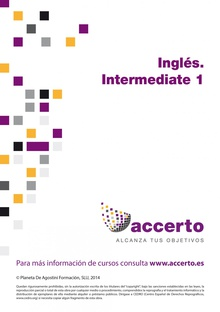 Inglés. Intermediate 1