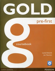 gold pre-first coursebook and cd-rom pack 2016