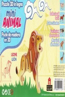 LEóN MINI ANIMAL PUZLE DE MADERA EN 3D