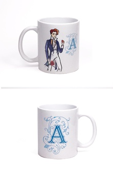 Taza British Regency by Titania (Inicial A)