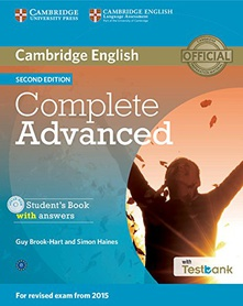 Complete cae students book with key with cd rom and online testbank second edition