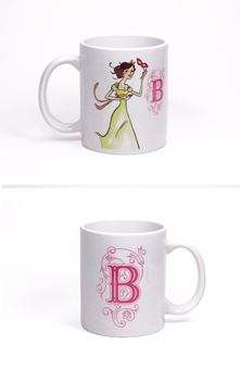 Taza British Regency by Titania (Inicial B)